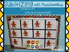 Gingerbread Subitizing - Tens Frame Activity