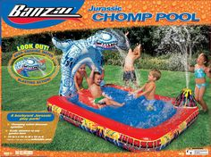 Banzai Kids Play Swimming Pool Water Park Slide Chomp DAMAGED BOX SPECIAL in Home & Garden,Yard, Garden & Outdoor Living,Pools & Spas | eBay
