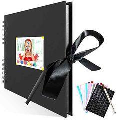Basic Black Scrapbook Photo Album with ribbon Photo Album Scrapbooking, Start Writing, Adventure Travel, Stuff To Do, Best Gifts, Travel Photography, Ribbon, Memories, Vacation