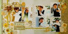 FAMILY - Kaisercraft - Golden Grove Collection Scrapbooking Layouts, Scrapbook Pages, Page Layout, Lilac, Indie, Blessed, Sketches, Place Card Holders, Frame