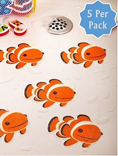 Bathtub Stickers Clownfish - Safety Decals Treads Non Slip Anti-skid Shower Applique Non-Slip Bathtub Mats http://www.amazon.com/dp/B00NLKF34O/ref=cm_sw_r_pi_dp_imHVub1A7XA16