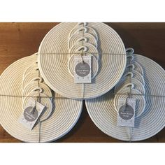 Cotton coil rope placemat and coaster set dining custom