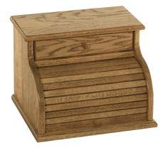 Roll top Bread Box with Drawer   Custom made   Hardwoods   Shipshewana