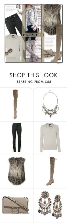 """""""#fauxfur"""" by gracekathryn ❤ liked on Polyvore featuring Stuart Weitzman, Sole Society, Yves Saint Laurent, Armani Jeans, Diesel, Chloé, Marchesa, women, fashionset and womensFashion"""