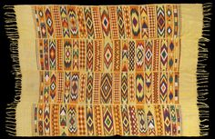 NW510 - Woven by Ijebu Yoruba women in the town of Ijebu-Ode and its surroundings, these extraordinary cloths are used as insignia of office...