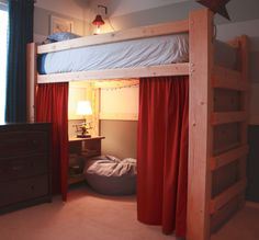 Bunk Bed Design Ideas For Your Trailer Free Diy Full Size Loft Bed Plans Awesome Woodworking Ideas How To Loft Bed Plans, Bed Design, Bedroom Diy, Bedroom Loft, Bed, Diy Loft Bed, Dorm Room Designs, Bunk Bed Designs, Kids Loft Beds
