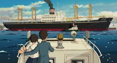 From Up on Poppy Hill Screencap and Image Animation Storyboard, Animation Reference, Pom Poko, Up On Poppy Hill, Japanese Poster Design, Japanese Animated Movies, Studio Ghibli Movies, Animation Tutorial, Arte Disney