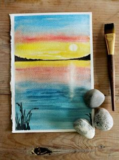 Simple Steps on How to Paint a Sunset with Watercolors | The Art 123