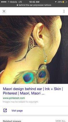 Maori Tattoo Behind Ear - Tattoo For Women Tatoo Art, Body Art Tattoos, New Tattoos, Tribal Tattoos, Girl Tattoos, Tattoos For Women, Tatoos, Polynesian Tattoos, Easy Tattoos