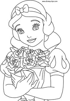 disney coloring pages printable disney princess snow white coloring pages - Disney Princess Coloring Page