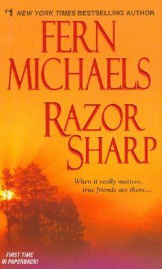 Razor Sharp (The Sisterhood) by Fern Michaels, http://www.amazon.com/dp/1420106848/ref=cm_sw_r_pi_dp_aioUrb1N0G3CQ