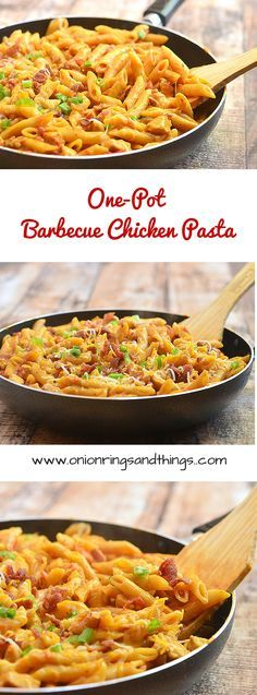 One-Pot Barbecue Chicken Pasta is a quick and easy pasta dish done in one pot, loaded with bacon, chicken, cheese and BBQ flavors