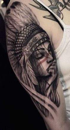 Trendy Native American Tattoo For Women Feathers Ideas Cherokee Indian Tattoos, Indian Women Tattoo, Indian Girl Tattoos, Indian Tattoo Design, Native American Tattoos, Native Tattoos, Tattoos 3d, Feather Tattoos, Life Tattoos