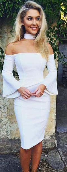White Scarf & Florence Dress