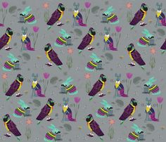 LOVE this fabric!!! Perfect Gentlemen fabric by sandeehjorth on Spoonflower - custom fabric