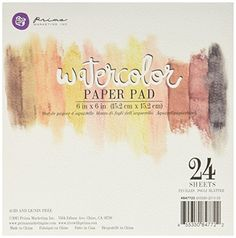 Prima Marketing 655350847722 Watercolor Paper Pad, 6-Inch, 24pc 140lbs cold press - Our products are specially designed to be used for all of your craft needs. Each unique craft item can be used for your next scrapbook, altered project, cards, tags, wall art, invitations, etc. The versatility of this product will help you make your artistic dreams a reality.Includes: 24 sheets, ...