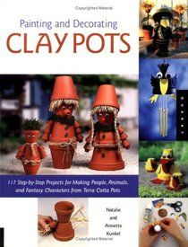 terra cotta pot crafts | ... For Painting People animals And Fantasy Characters On Terra Cotta Pots