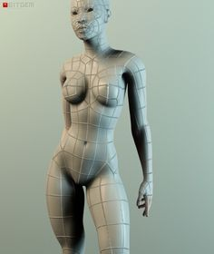 Low Poly Female Base Mesh A while back I made this base mesh. It's basically the…