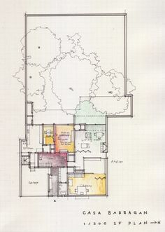 a floor plan a day keeps the doctor away (Luis Barragan, Casa Barragan, 1948, Taubaya,...)