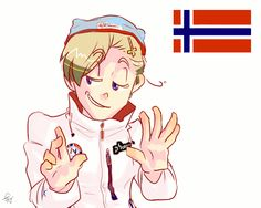 """""""Seriously Norway? 7 medals by day two? Seriously?"""" - Art by falaffles-mywaffles.tumblr.com"""
