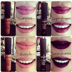 NYX Soft Matte Lip Cream's newest colors. I love Madrid and ...