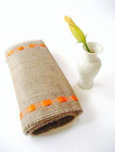 Fall Entertainment Table Runner with Orange Ribbon - New Fresh Instant Update