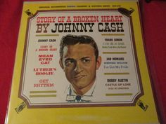 Story of a Broken Heart by Johnny Cash Vintage Vinyl LP by trackerjax on Etsy Johnny Cash, Used Vinyl, Luther, Lps, Heart, Vintage, Vintage Comics, Hearts