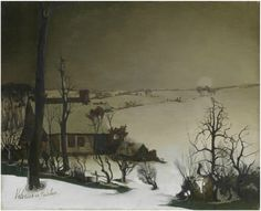 Valerius De Saedeleer - Winter Landscape c. 1905-1941 ART OF BELGIUM
