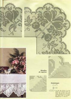"""Photo from album """"кайма on Yandex. Crochet Pillow Pattern, Baby Blanket Crochet, Crochet Patterns, Filet Crochet Charts, Crochet Borders, Crochet Edgings, Crochet Shawl, Crochet Stitches, Crochet Table Topper"""