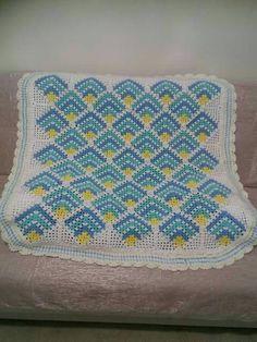 örgü bebek battaniyesi tığ işi