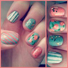 Springspiration! #Nails #NOTD #spring #flowers