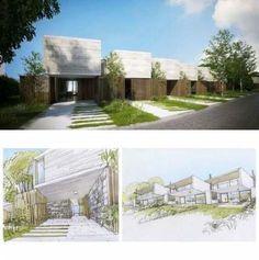 House Projects Autocad Ideas For 2019 Modern Architecture House, Concept Architecture, Sustainable Architecture, Residential Architecture, Architecture Design, Habitat Groupé, Fachada Colonial, Duplex Design, Villa