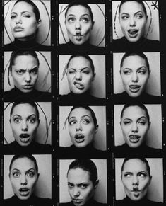 Angelina Jolie creating expressions for Patrick Demarchelier 1999 Body Reference, Anatomy Reference, Photo Reference, Portrait Fotografie Inspiration, Expression Sheet, Patrick Demarchelier, Face Expressions, Character Design References, Grimm