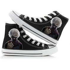 Tokyo Ghoul Anime Kaneki Ken Cosplay Shoes Canvas Shoes Sneakers Many... ($36) ❤ liked on Polyvore featuring shoes, sneakers, canvas sneakers, animal trainer, animal shoes, canvas footwear and canvas shoes