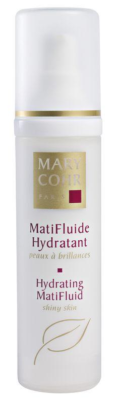 MATIFLUIDE HYDRATANT (50ml)  Das erste Pflegefluid mit Doppelwirkung für fettige und Mischhaut mattiert die Haut nachhaltig und versorgt sie den ganzen Tag mit wertvoller Feuchtigkeit. Leichtes Fluid, das ein samtiges pudriges Aussehen verleiht. Intensives Frischegefühl. Die Haut ist sofort und lang anhaltend mattiert. Der Feuchtigkeitshaushalt der Haut wird bewahrt. http://www.best-kosmetik.de/marken/mary-cohr/unreine-haut/matifluide-hydratant.html