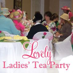 Lovely Ladies' High Tea Party Ideas | Belly Feathers :: Handmade Party Ideas Blog by Betsy Pruitt