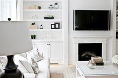 Living Room Built Ins, Transitional, living room, Lux Decor