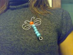How to make a wire brooch. Wire Dragonfly - Step 10