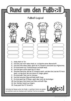 Football _ Logical 4 - Football _ Logical 4 Worksheet – Free DAF Worksheets Best Picture For school drawing For Your T - Football Names, Worksheets For Kids, Science Education, Working Woman, Primary School, Comprehension, Golden State Warriors, Kindergarten, Homeschool