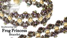 "Make Potomac Bead Company & Allie Buchman's ""Frog Princess"" bracelet design using RounDuo Beads, Czechmates 2-hole lentil beads, and Miyuki seed beads. Find ..."
