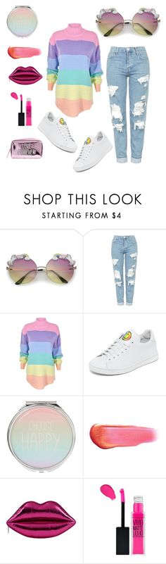 """Pride"" by jacquelyn-hoot ❤ liked on Polyvore featuring Topshop, UNIF, Joshua's, e.l.f. and pride"