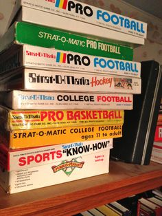 Old school collection! College Football, Vintage Toys, Tabletop, Board Games, Nostalgia, Gaming, Collections, Baseball, School
