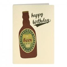 Beer Retro Press Card