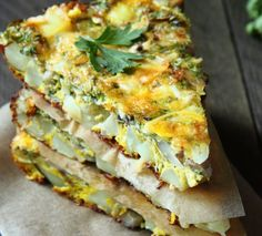 ricette-con-la-menta-frittata-patate-prezzemolo Lasagna, Quiche, Feta, Buffet, Curry, Breakfast, Ethnic Recipes, Mamma, Blog