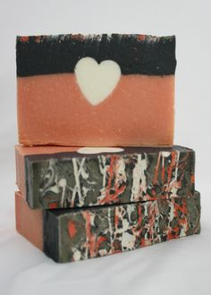 Embedded Heart Cold Process Soap Recipe   CP Soap Tutorials   Teach Soap
