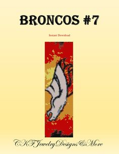 Hey, I found this really awesome Etsy listing at https://www.etsy.com/listing/203393580/nfl-denver-broncos-fan-bracelet-peyote