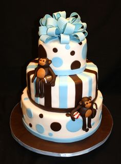 monkey baby shower ideas for boys | Pin Martys Creative Cakes Birthday Cake on Pinterest
