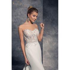 Sexi svadobné šaty s čipkou a vlečkou v štýle morská panna na predaj