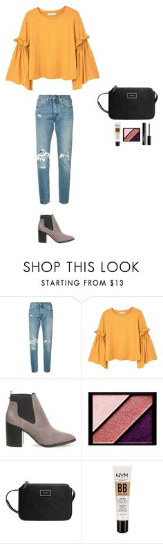 """""""Style #259"""" by maksimchuk-vika ❤ liked on Polyvore featuring Levi's, MANGO, Office, Elizabeth Arden, NYX and Charlotte Russe"""