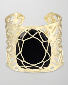 Geneva Caged Cuff Bracelet, Black by Kendra Scott at Neiman Marcus.  Oooo yaaaaa!  Just perfect for that little black dress!